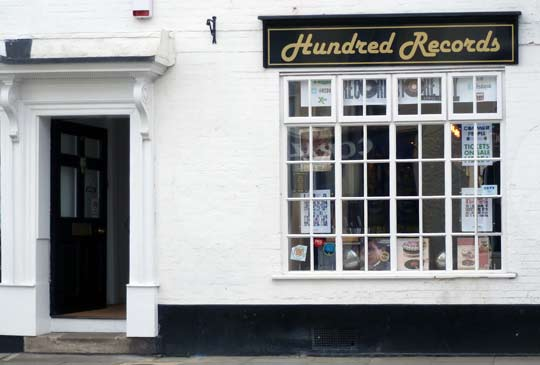 Hundred Records shop front