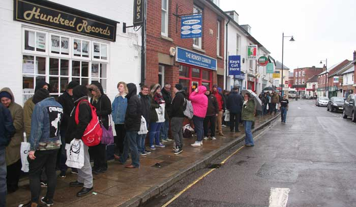 The queue at half past seven in the morning