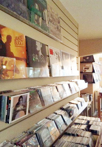 Vinyl and CD shelving